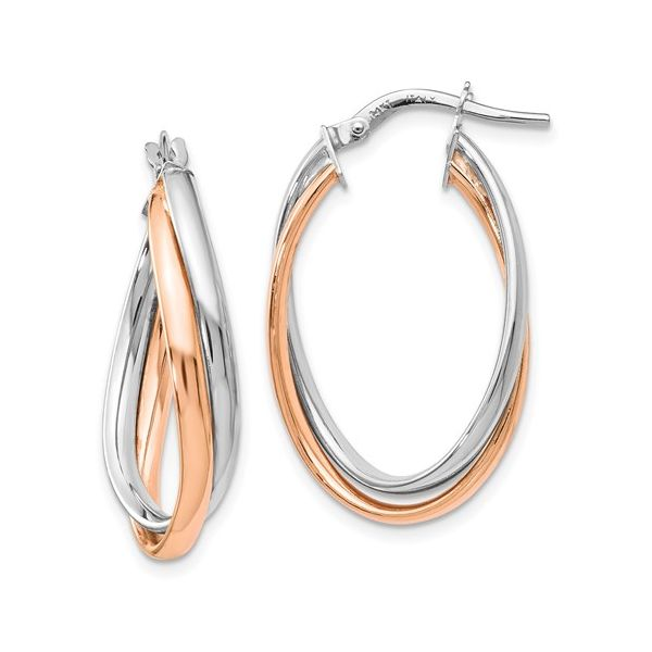 FANCY OVAL HOOP EARRINGS Dondero's Jewelry Vineland, NJ