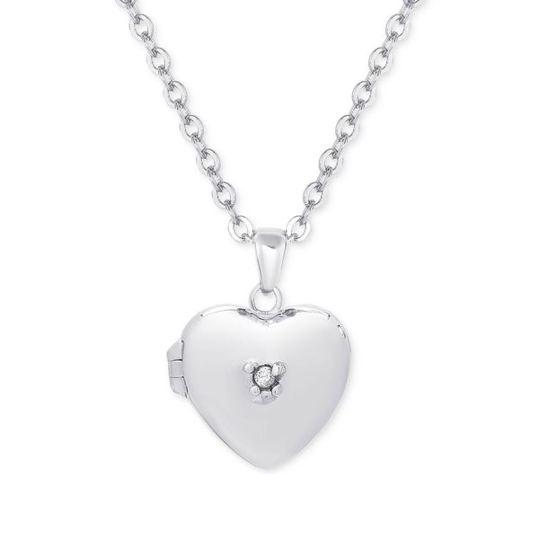 HEART LOCKET WITH CZ IN STERLING SILVER Dondero's Jewelry Vineland, NJ