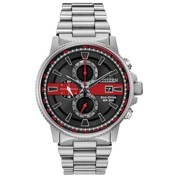 Citizen Men's Thin Red Line Watch Dondero's Jewelry Vineland, NJ