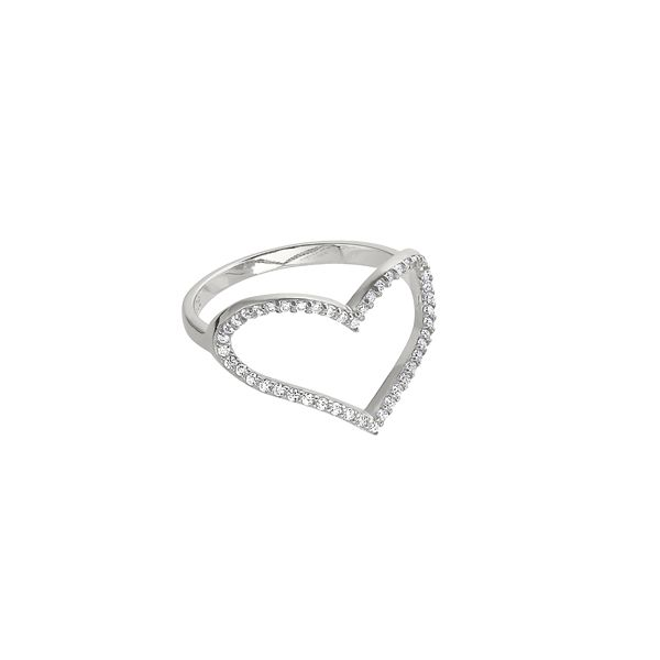 MICROPAVE OPEN HEART RING Dondero's Jewelry Vineland, NJ