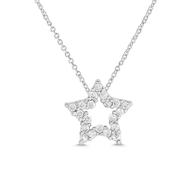 OPEN STAR CZ NECKLACE IN STERLING SILVER Dondero's Jewelry Vineland, NJ