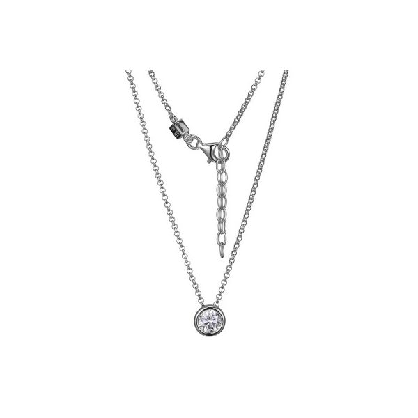 ELLE BEZEL PENDANT/NECKLACE Dondero's Jewelry Vineland, NJ