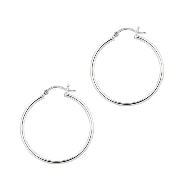 STERLING SILVER 2X30MM HOOP EARRING Dondero's Jewelry Vineland, NJ