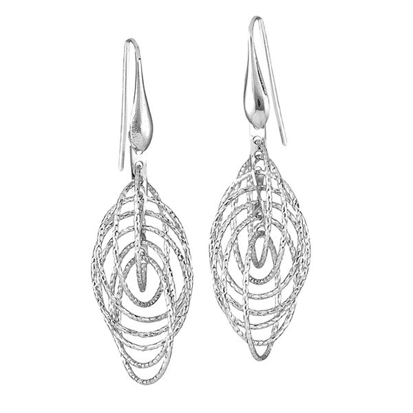 DIAMOND-CUT CIRCLE DANGLE EARRINGS Dondero's Jewelry Vineland, NJ