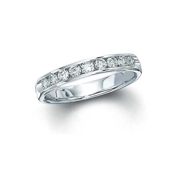 14kt White Gold Channel Set Diamond Wedding Ring Don's Jewelry & Design Washington, IA