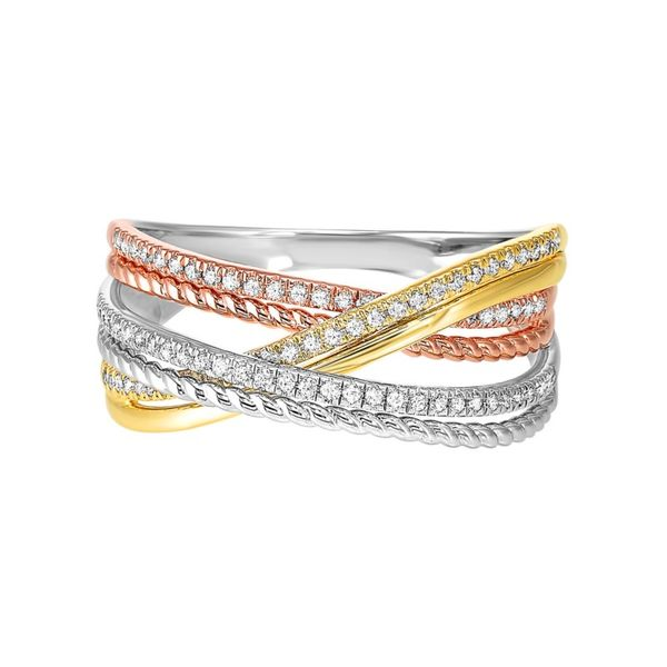 10kt White, Yellow, and Rose Gold Diamond Ring Don's Jewelry & Design Washington, IA