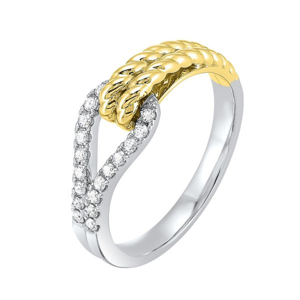 14kt Yellow and White Gold Diamond Ring Don's Jewelry & Design Washington, IA