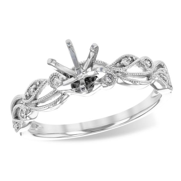 14kt White Gold Diamond Engagement Semi-Mount Ring Don's Jewelry & Design Washington, IA
