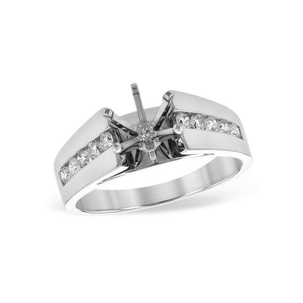 14kt White Gold Diamond Engagement Ring Don's Jewelry & Design Washington, IA
