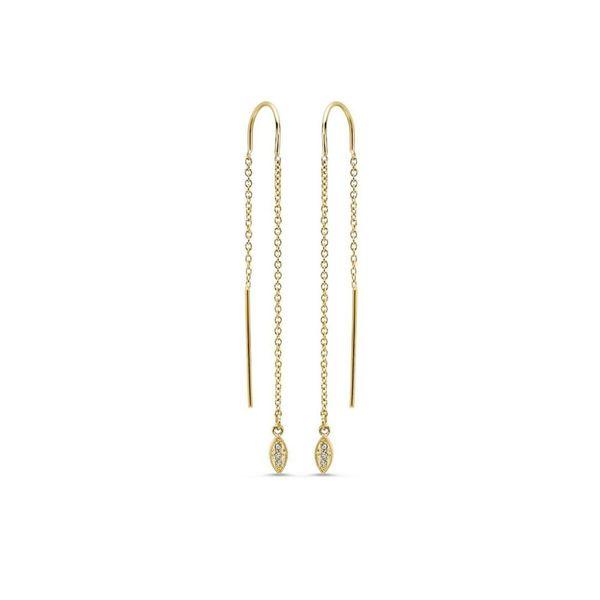 14kt Yellow Gold Diamond Threader Earrings