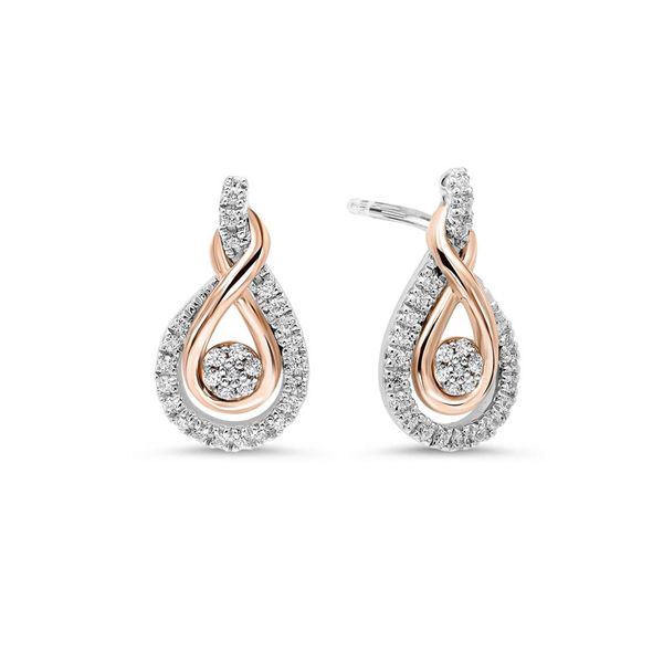 Sterling Silver & 10kt Rose Gold Diamond Earrings Don's Jewelry & Design Washington, IA