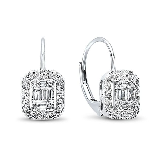 14kt White Gold Diamond Drop Earrings Don's Jewelry & Design Washington, IA