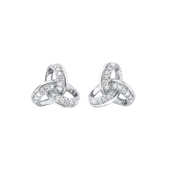 14kt White Gold Diamond Stud Earrings Don's Jewelry & Design Washington, IA