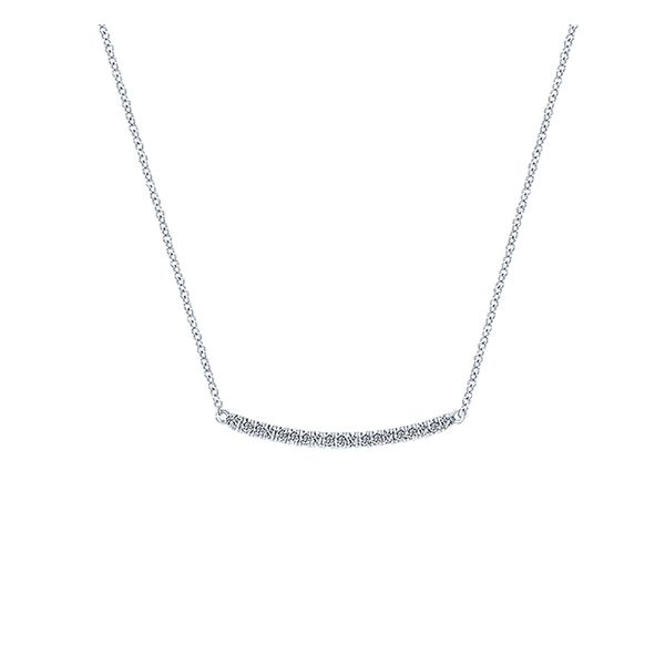 14kt White Gold Diamond Bar Necklace Don's Jewelry & Design Washington, IA
