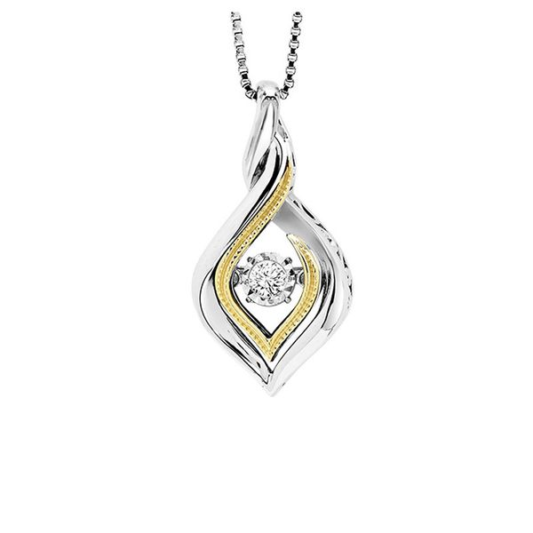 Sterling Silver & 10kt Yellow Gold Diamond Necklace Don's Jewelry & Design Washington, IA