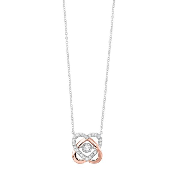 10kt White & Rose Gold Diamond Necklace Don's Jewelry & Design Washington, IA