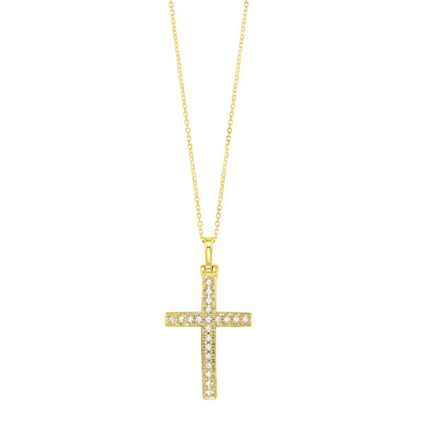 14kt Yellow Gold Cross Necklace Don's Jewelry & Design Washington, IA