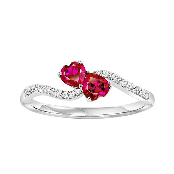 Sterling Silver Created Ruby & White Sapphire Ring Don's Jewelry & Design Washington, IA