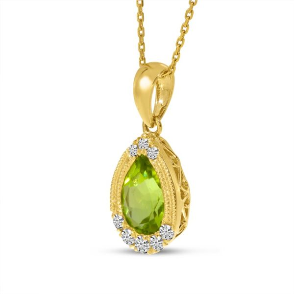 14kt Yellow Gold Peridot Pendant Image 2 Don's Jewelry & Design Washington, IA