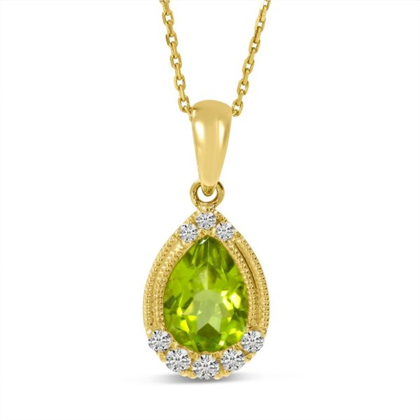 14kt Yellow Gold Peridot Pendant Don's Jewelry & Design Washington, IA