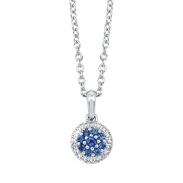 14kt White Gold Sapphire & Diamond Necklace Don's Jewelry & Design Washington, IA