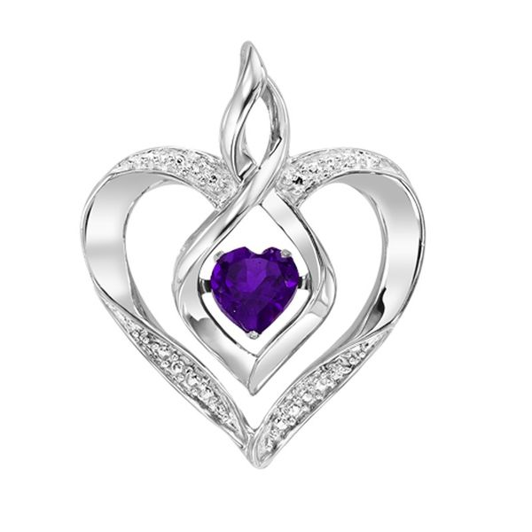 Sterling Silver Created Amethyst & Diamond Necklace Don's Jewelry & Design Washington, IA