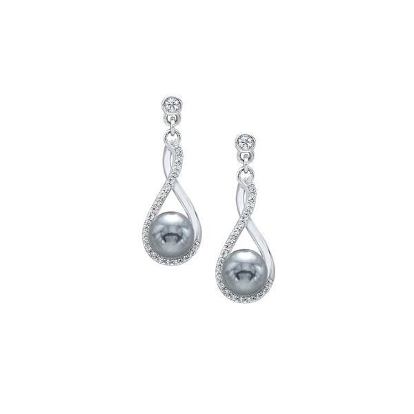 Sterling Silver Freshwater Gray Pearl Earrings Don's Jewelry & Design Washington, IA