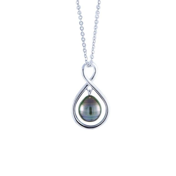 Sterling Silver Tahitian Pearl Necklace Don's Jewelry & Design Washington, IA