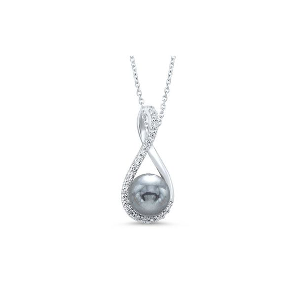 Sterling Silver Freshwater Gray Pearl Necklace Don's Jewelry & Design Washington, IA