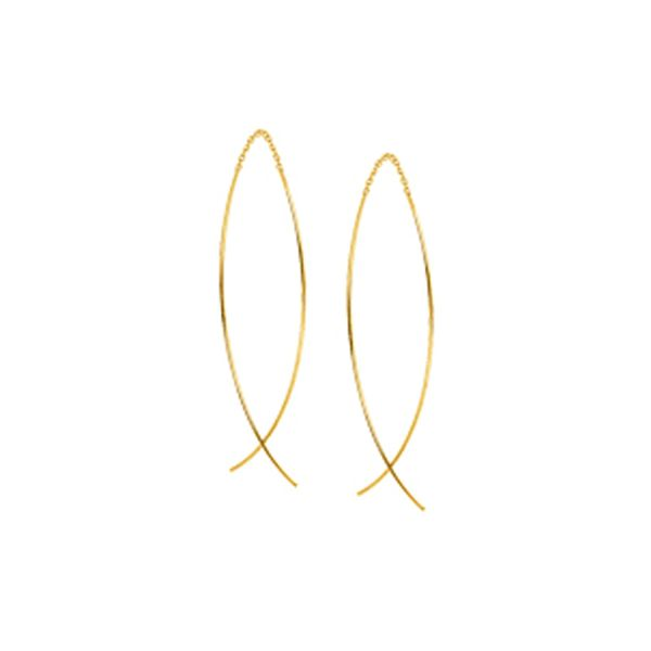 14kt Yellow Gold Threader Earrings Don's Jewelry & Design Washington, IA
