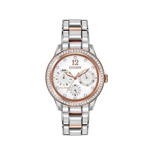 Stainless Steel & Rose Gold Plate Citizen Eco-Drive Watch Don's Jewelry & Design Washington, IA