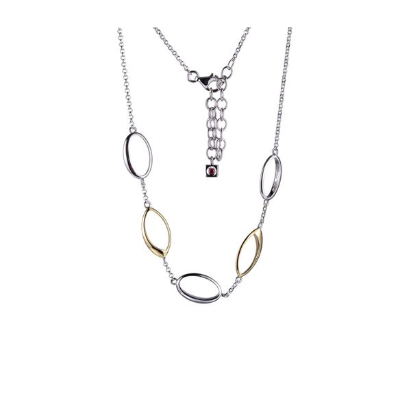 Sterling Silver & Yellow Gold Plate Necklace Don's Jewelry & Design Washington, IA