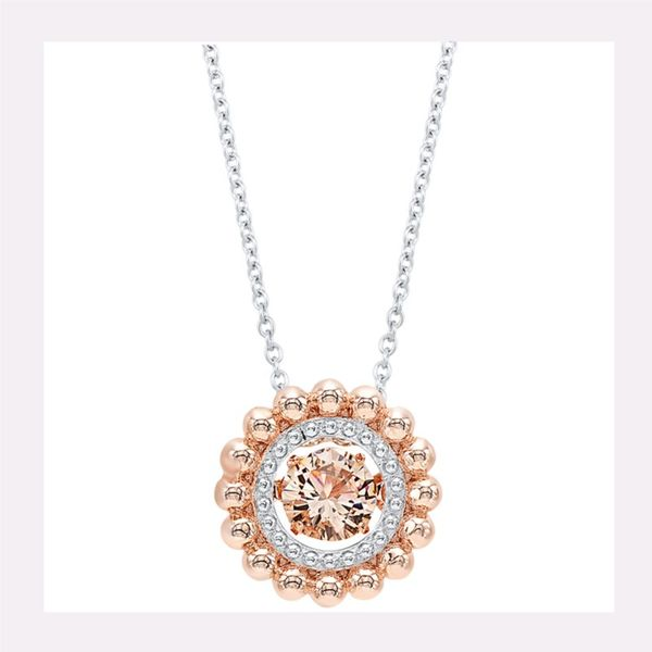 Sterling Silver Pink CZ Necklace Don's Jewelry & Design Washington, IA
