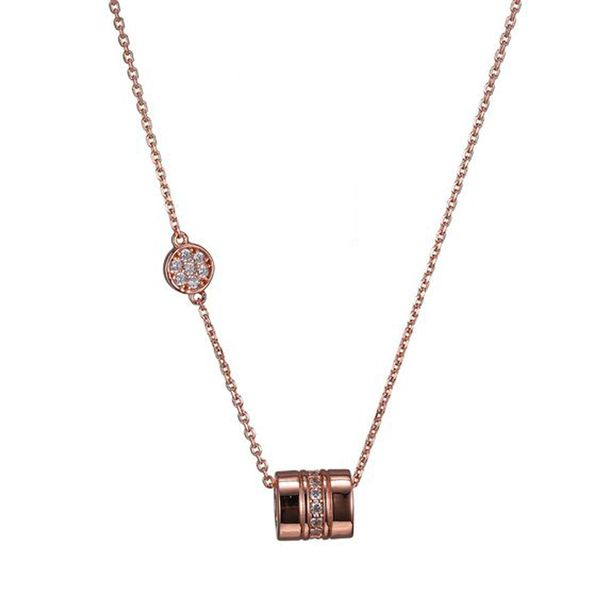 Rose Gold Plate CZ Necklace Don's Jewelry & Design Washington, IA