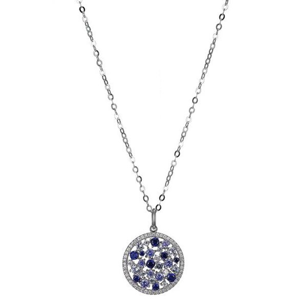 Sterling Silver Synthetic Blue Corundum Necklace Don's Jewelry & Design Washington, IA