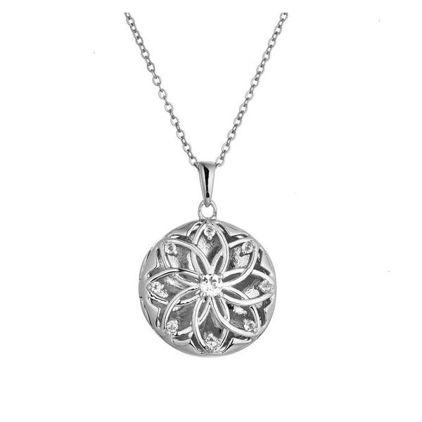 Sterling Silver Helen Locket Necklace Don's Jewelry & Design Washington, IA
