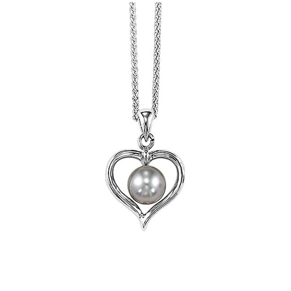 Sterling Silver Gray Pearl Necklace Don's Jewelry & Design Washington, IA