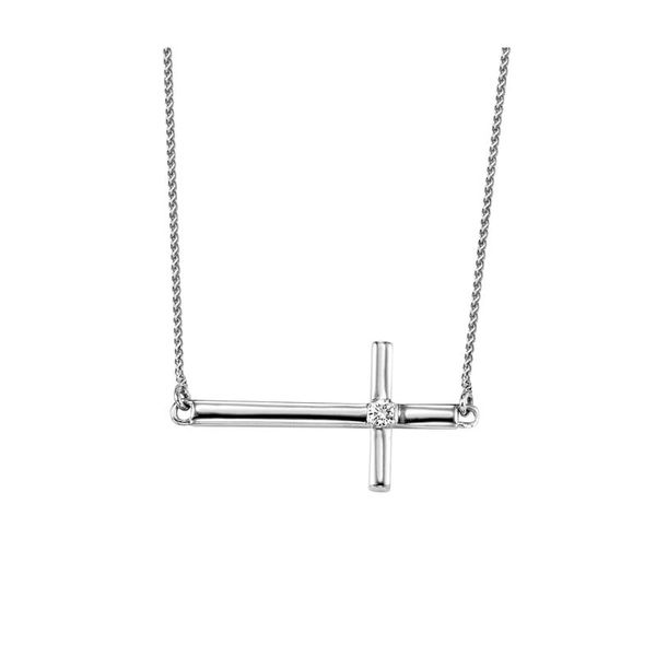 Sterling Silver Diamond Cross Necklace Don's Jewelry & Design Washington, IA