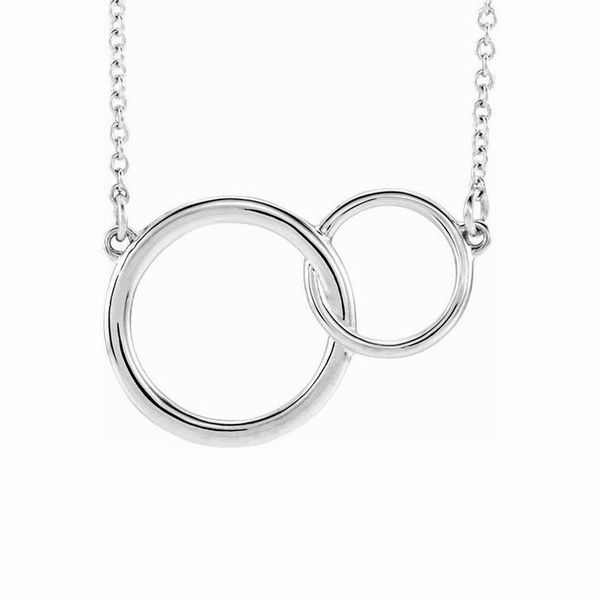 Sterling Silver Interlocking Circle Necklace Don's Jewelry & Design Washington, IA