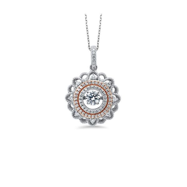 Sterling Silver & YRose Gold Plate CZ Necklace Don's Jewelry & Design Washington, IA