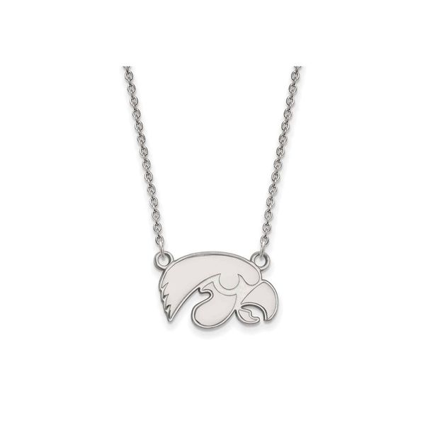 Sterling Silver University of Iowa Hawkeye Necklace Don's Jewelry & Design Washington, IA