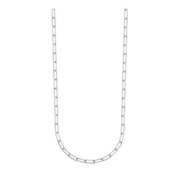 Sterling Silver Paperclip Necklace Don's Jewelry & Design Washington, IA