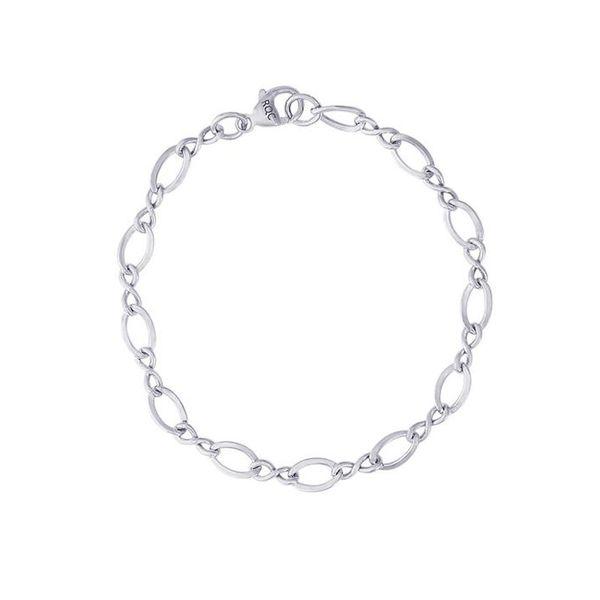 ea924efd00557c Sterling Silver Figure Eight Charm Bracelet 001-610-01334   Don's ...