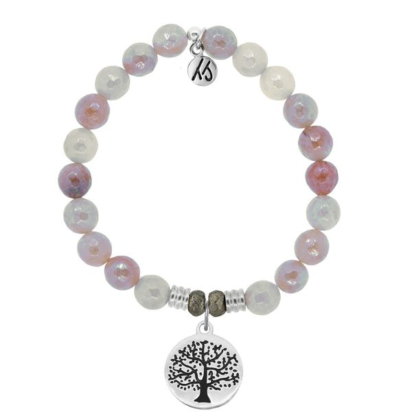 Sunstone Stone Bracelet with Tree of Life Sterling Silver Charm Don's Jewelry & Design Washington, IA