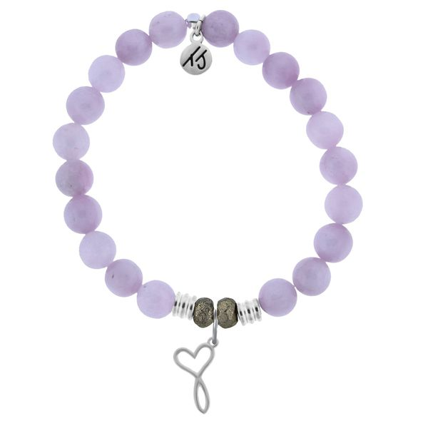 Kunzite Stone Bracelet with Infinity Heart Sterling Silver Charm Don's Jewelry & Design Washington, IA