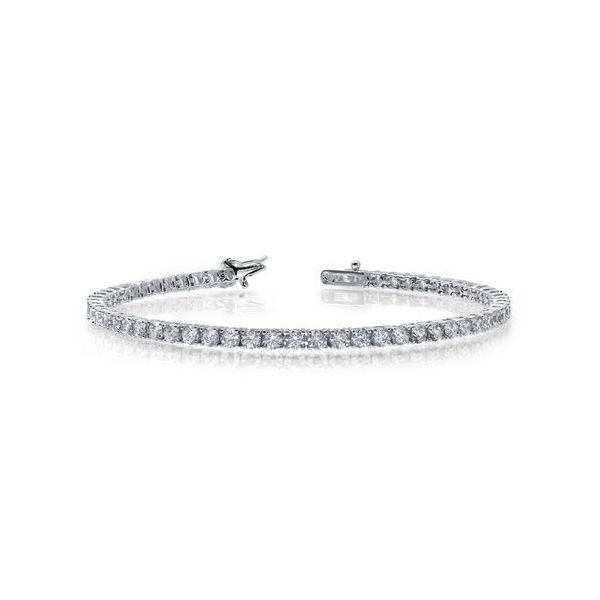 Sterling Silver Simulated Diamond Bracelet Don's Jewelry & Design Washington, IA