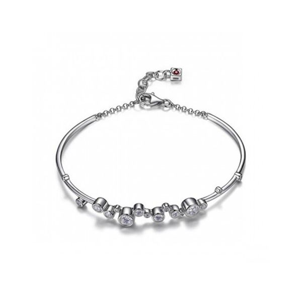 Sterling Silver CZ Bangle Bracelet Don's Jewelry & Design Washington, IA