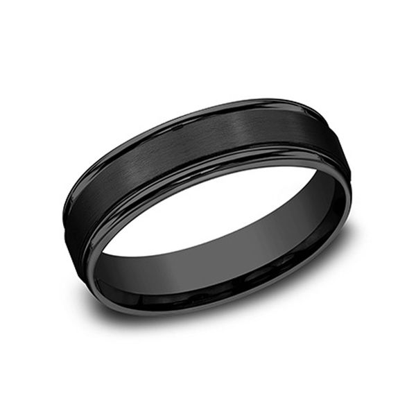 Men's Black Titanium Wedding Ring Don's Jewelry & Design Washington, IA