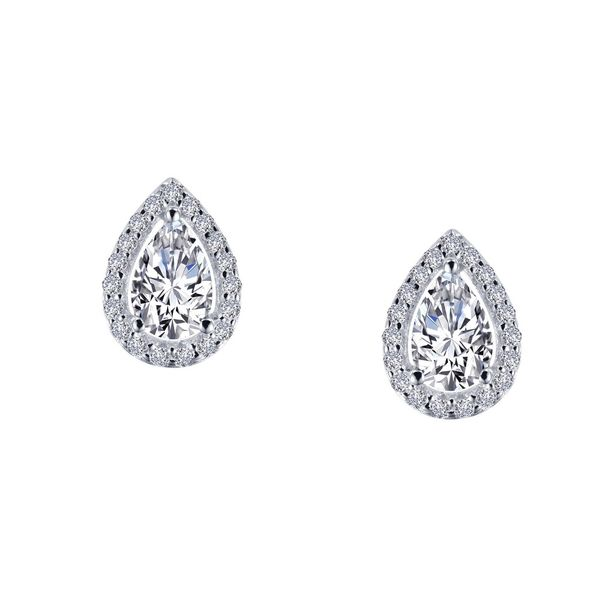 Sterling Silver Simulated Pear Diamond Stud Earrings Don's Jewelry & Design Washington, IA