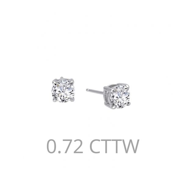 Sterling Silver Simulated Diamond Stud Earrings Don's Jewelry & Design Washington, IA